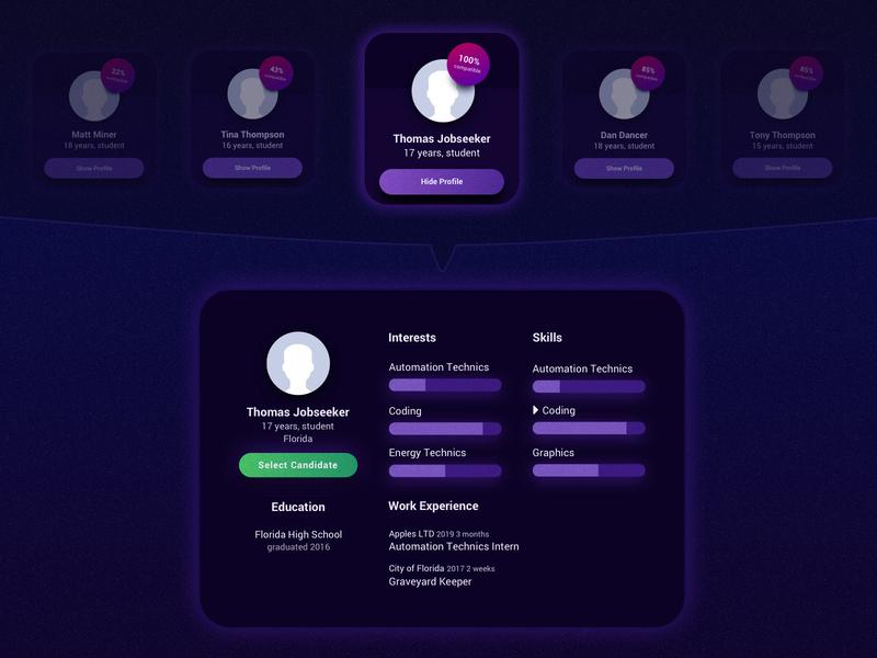 Job Seeking Match Concept - Select Candidate