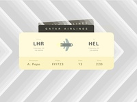 Boarding Pass | Daily UI #024