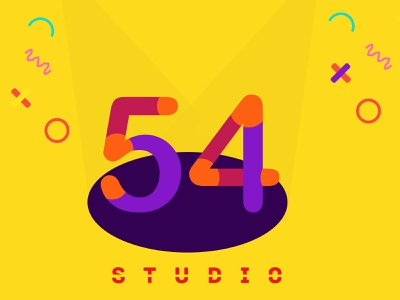 Logo | Daily UI #052 daily ui 54 dailyui 52 studio 54 studio logo