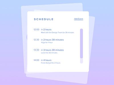 Schedule | Daily UI #071 scheduler dailyui 71 daily ui 071 calendar scheduling schedule