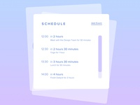 Schedule | Daily UI #071