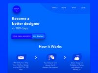 DailyUI Landing Page | Daily UI #100
