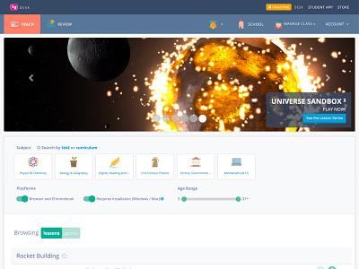 TeacherGaming Desk - Front class classroom student teacher website ui desk teachergaming