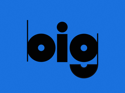 big type customtype blue musical note musical music round type circular fat chunky typography type