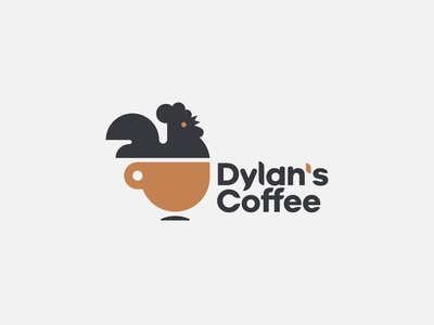 Coffee cup + Rooster | Logo