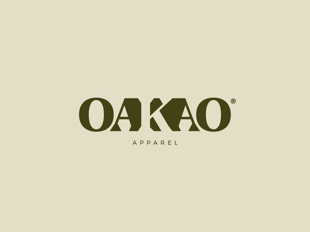 Oakao apparel | Logotype minimal brand design brand identity font typo typeface illustration design fashion logo fashion apparel apparel logo k logo negative space logo negative space typography wordmark logo design logotype logo