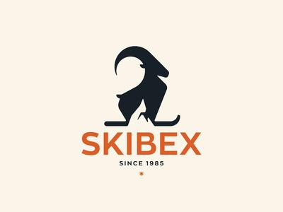 Skibex | Mountain + Ibex + Ski Logo