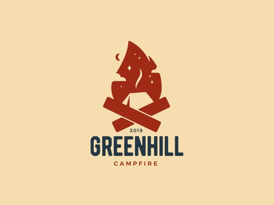 Greenhill Campfire | Fire + Camping Logo