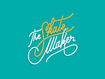 The Skate Maker | Hand Lettering Logo