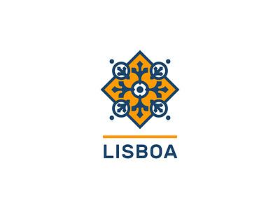 Lisboa | City logo brand design branding daily logo ciudad geometry vector typography illustration brand identity brand bright town city geometric portugal lisbon lisboa logo design logos logo