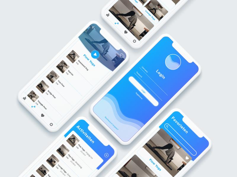 Yoga App blue app yoga