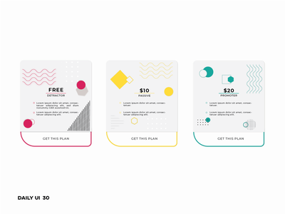 Daily UI 30 ~ Pricing promoters abstract design abstract dailyui30 customer engagement pricing minimal button ui design app design daily 100 challenge dailyui