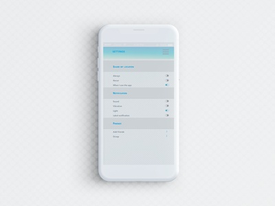 Daily UI  007 ~ Settings