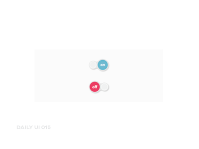 Daily UI 015 ~ On/Off Switch
