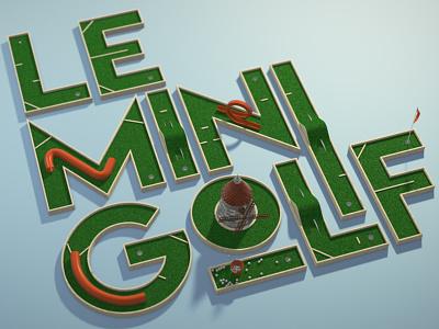 Le Mini Golf | Five Second Project animation motion golf mini golf greyscalegorilla gsg 5 second project five second project cinema 4d c4d cgi 3d
