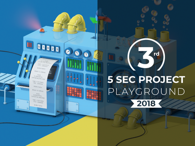 3rd Place 5 Second Project gsg greyscalegorilla playground 2018 motion design five sec project five second project challenge win award
