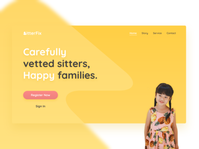 Babysitting Service Landing Page