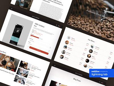 Java  - Coffee Shop Webflow Template webflow template template webflow coffee shop coffee web ui web design