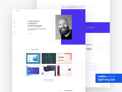Craig - Freelance designer Webflow template freelance designer webflow template webflow template ui website design