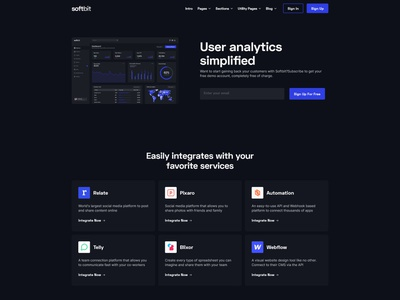 SoftBit - SaaS Webflow UI kit saas landing page saas design saas design template webflow template webflow web web design ui