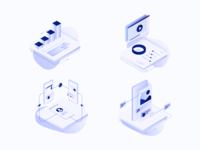 Isometric Services Illustrations