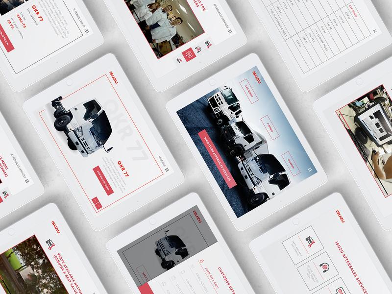 Isuzu Digital Brochure Design Concept by Edward Alonzo on Dribbble