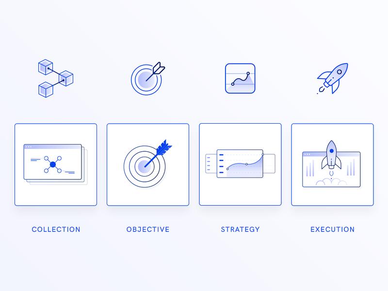 Presentation Icons vector illustration marketing digital simple minimal modern stroke agency gradient icon