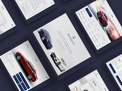 Maserati Digital Brochure Design Concept mobile app ui design ux ui ui  ux brochure digital maserati simple clean interface simple sales tablet ipad app car mobile