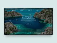 Travel Web Design Concept