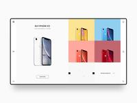 iPhone Web Design Concept
