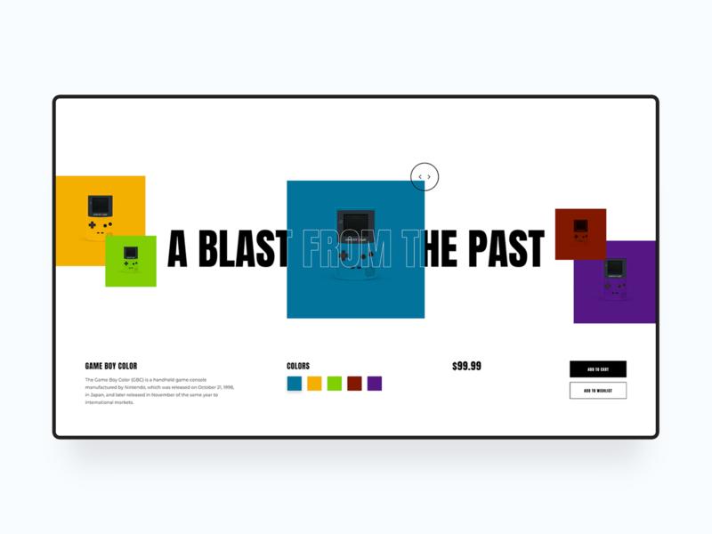 Game Boy Web Design Concept web design web homepage minimal clean simple game boy retro modern ux landing page ui