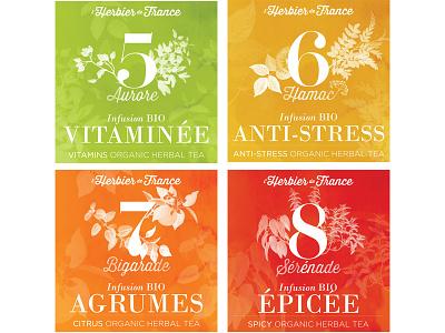 L'Herbier De France . packaging watercolor organic packaging