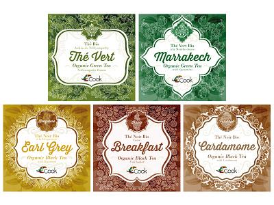 Arcadie Tea packaging tea watercolor organic packaging