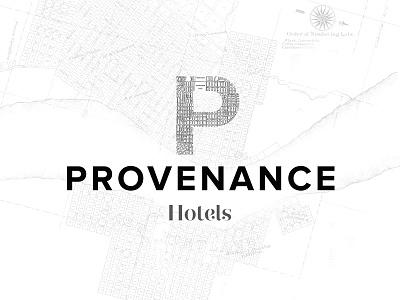 Provenance identity . logotype v1 identity logo
