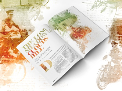 Lawrence of Arabia for Cycle world magazine watercolor illustration