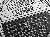 The 2016 letterpress calendar is coming
