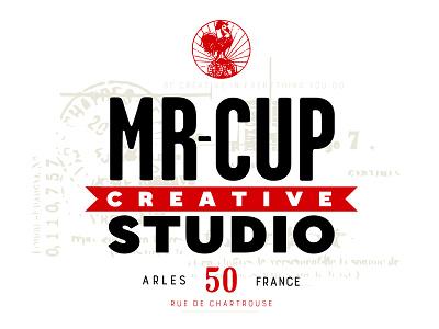 Mr Cup Creative Studio modern vintage identity logo