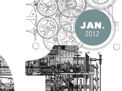 2012 letterpress calendar preview letterpress calendar print fabien barral