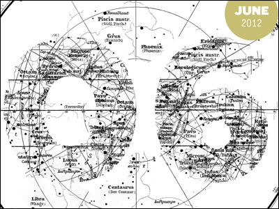 2012 letterpress calendar preview (june) letterpress calendar print fabien barral