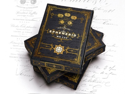 EPHEMERID playing cards letterpress poker cards playing