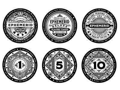 Ephemerid Coins playing card logo badge coins