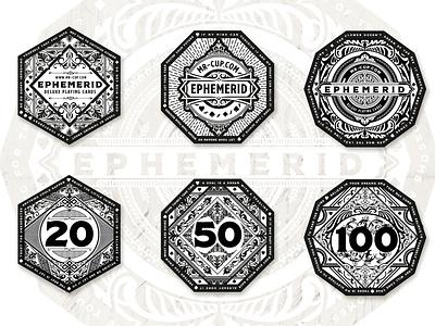 Ephemerid Coins part 2 playing card logo badges coins