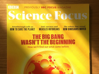 BBC Science Focus Cover bigbang space illustraion cover art cover design editorial cover illustration peter other