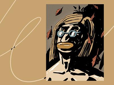 Autumn Self-portrait 🍂 adobe texture design peter other illustration