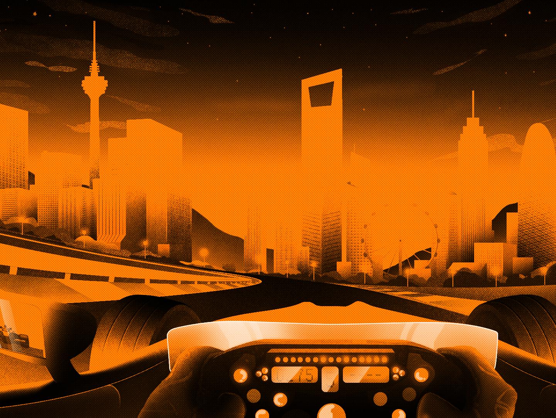 Formula 1 GP grand prix formula1 car style frame style illustration design after other