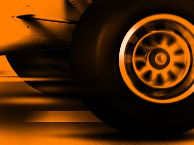 F1 Grand Prix style frame photoshop texture noise racing f1 car motion design illustration peter other