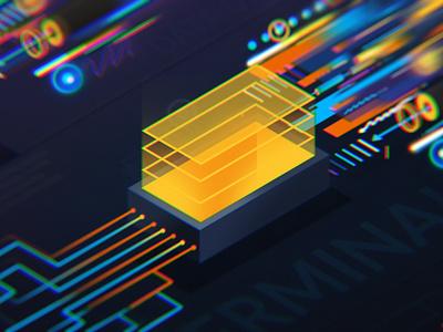 Data security lines motion ui logo illustration peter other