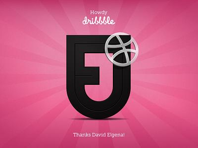 Howdy dribbble logo debut icon