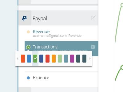 Analytics App: Color Picker color picker app application dashboard ui user interface