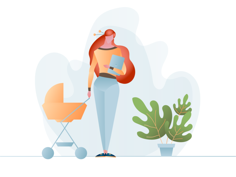 Business Mom illustration art artwork illustrator illustration vector design